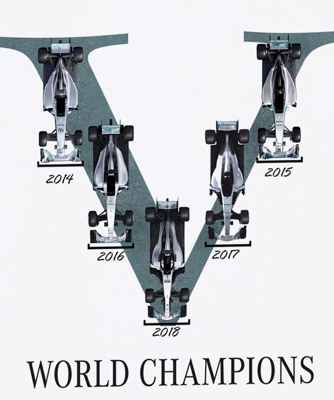 メルセデス2018コンストラクターズチャンピオン記念Tシャツ入荷