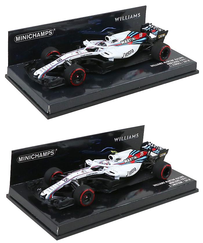 ミニチャンプス 2018年F1 フォース、ルノー、ウィリアムズ、レッドブル各種モデルカー入荷